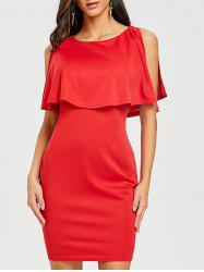 Scoop Neck Knee Length Caplet Dress -
