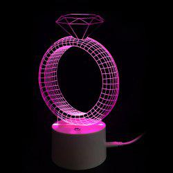 Valentine's Day Gift Diamond Ring 9 Color Touch Switch Table Night Light -