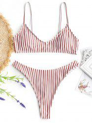 Cami Striped Thong Bathing Suit -