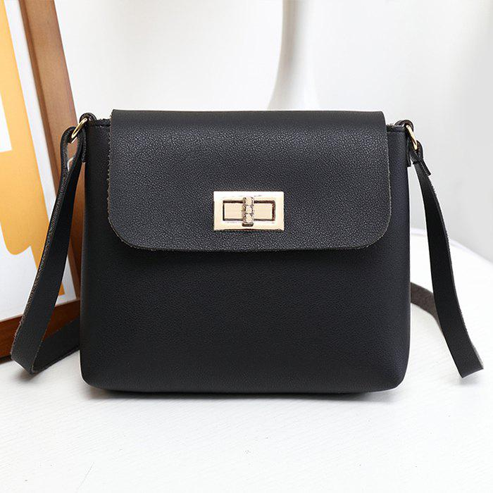 Fancy Minimalist PU Leather Flap Crossbody Bag