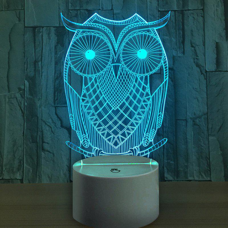 Outfit 3D Owl Shape USB Charging LED Touch Night Light