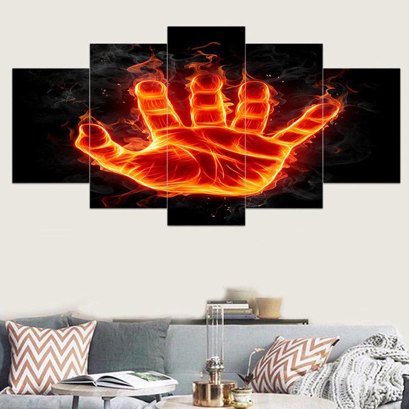 Sale Flame Palm Printed Canvas Unframed Wall Art Printings