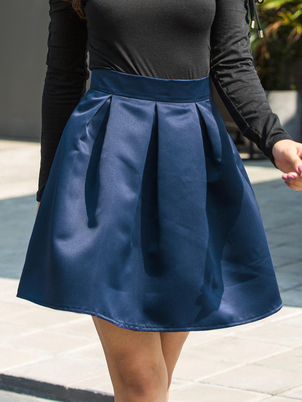 Fancy A-line Mini Skirt