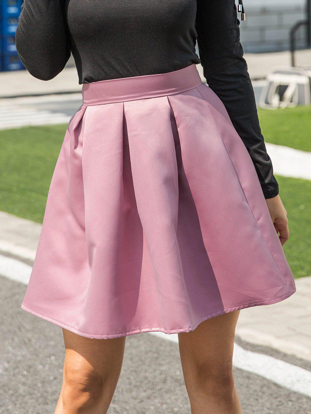 Fashion A-line Mini Skirt