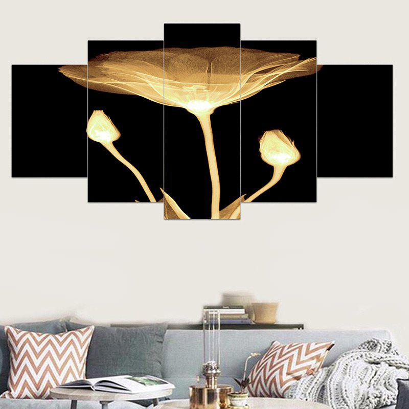 New Transparent Lotus Print Unframed Canvas Wall Art Paintings