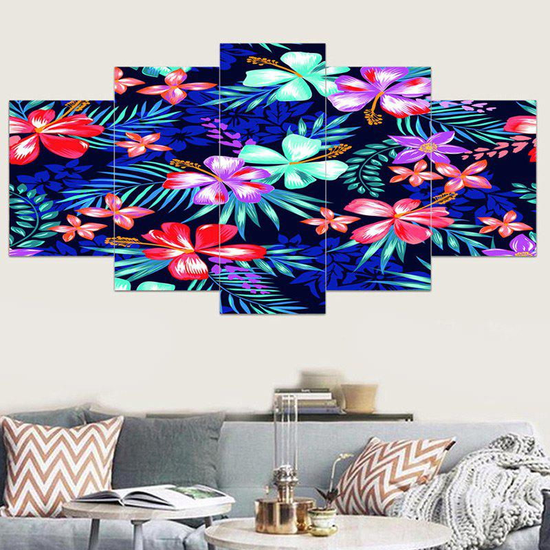 Discount Flowers Patterned Unframed Canvas Wall Art Paintings