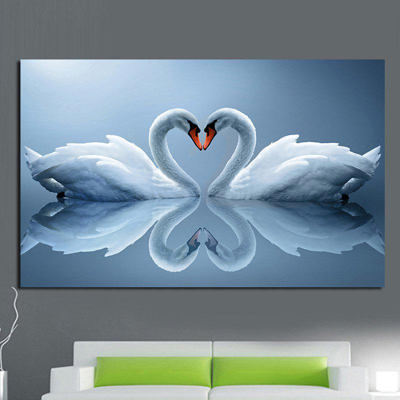 Outfits Elegant Swans Pattern Wall Art Painting
