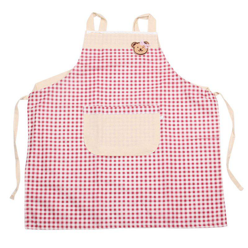 Chic Plaid Bear Kitchen Apron