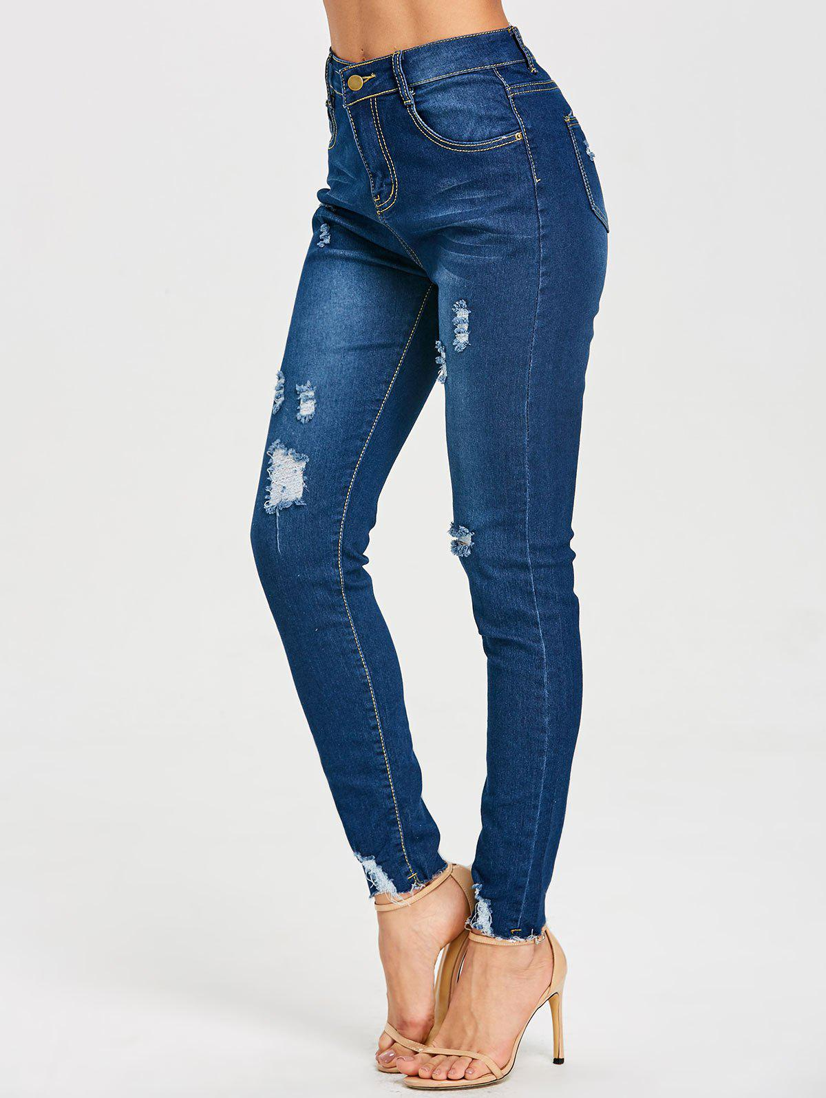 Best High Rise Skinny Ripped Jeans