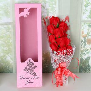 Valentine's Day Gift Artificial Soap Rose Flowers In A Box -