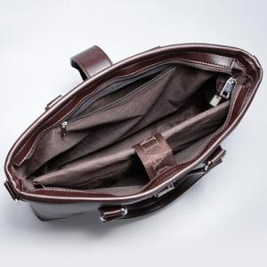 Multi Function Faux Leather Briefcase -