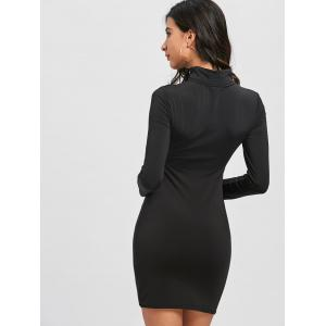 Cut Out High Neck Bodycon Dress -