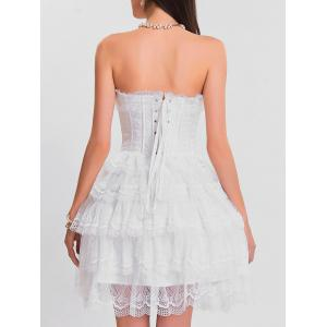 Tier Lace Ruffles Bandeau Corset Dress -