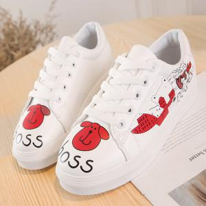 Cartoon PU Leather Skate Shoes -