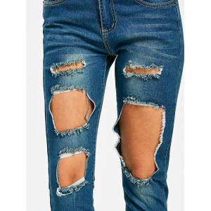 Frayed Skinny Destroyed Jeans -