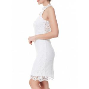 Back Slit Sheath Lace Dress -
