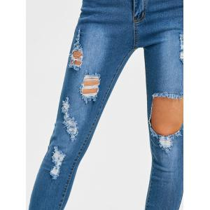Jeans vieilli Skinny taille moyenne -