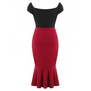 Plus Size Cap Sleeve Fishtail Dress -