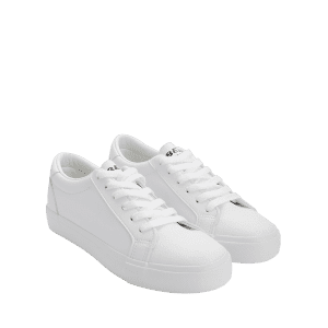 PU Leather Letter Embroidery Skate Shoes -