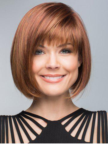 Store Short Inclined Fringe Straight Bob Human Hair Wig