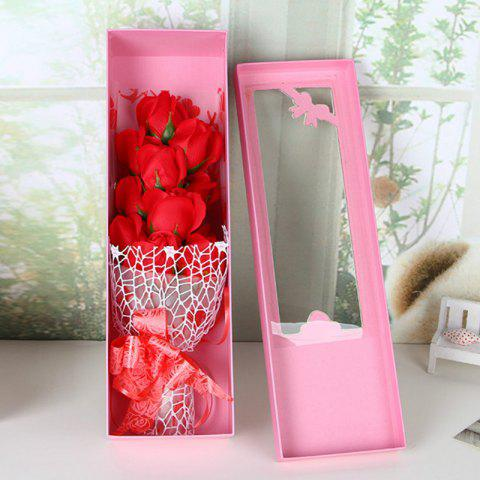 Sale Valentine's Day Gift Artificial Soap Rose Flowers In A Box