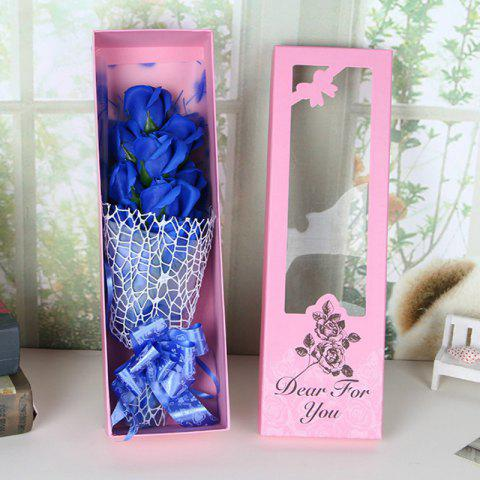 Outfits Valentine's Day Gift Artificial Soap Rose Flowers In A Box