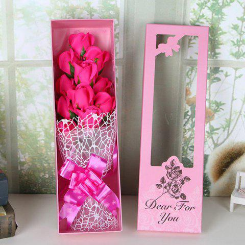 Shops Valentine's Day Gift Artificial Soap Rose Flowers In A Box