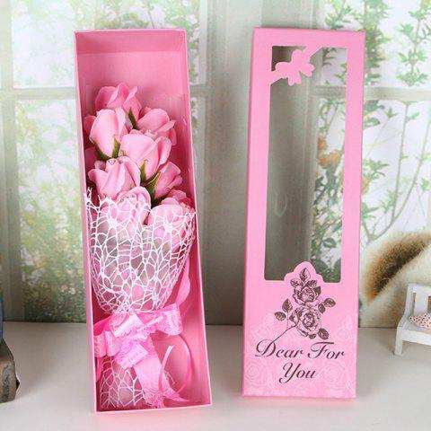 Hot Valentine's Day Gift Artificial Soap Rose Flowers In A Box
