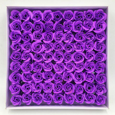 Store 81 Pcs Artificial Soap Rose Flowers In A Box Valentine's Day Gift