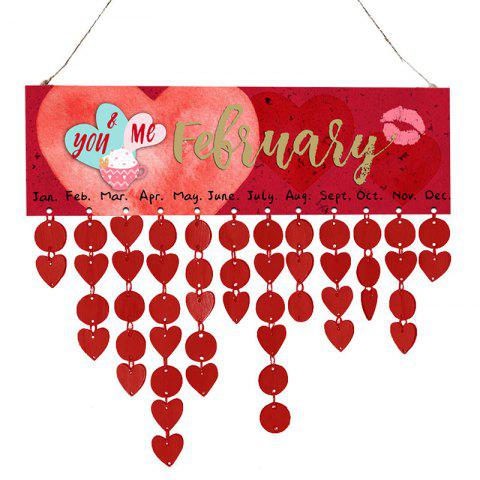 Online Wooden DIY Valentine's Day Hearts Pattern Calendar Board