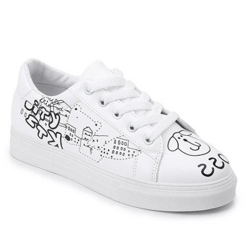 Hot Cartoon PU Leather Skate Shoes