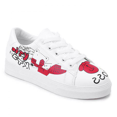 Shop Cartoon PU Leather Skate Shoes