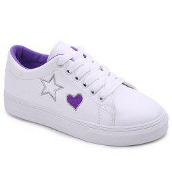 Heart Star Pattern Skate Shoes -