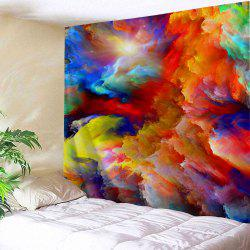 Abstract Colorful Clouds Printed Wall Art Tapestry - Colorful - W91 Inch * L71 Inch