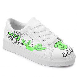 Letter Print Cartoon Skate Shoes -