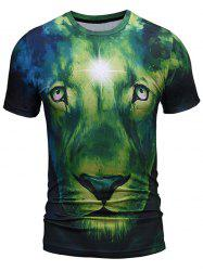 Lion Face Print Cool Tee -