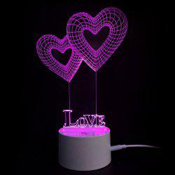 День Святого Валентина Love Heart Touch Colors Change LED Night Light -