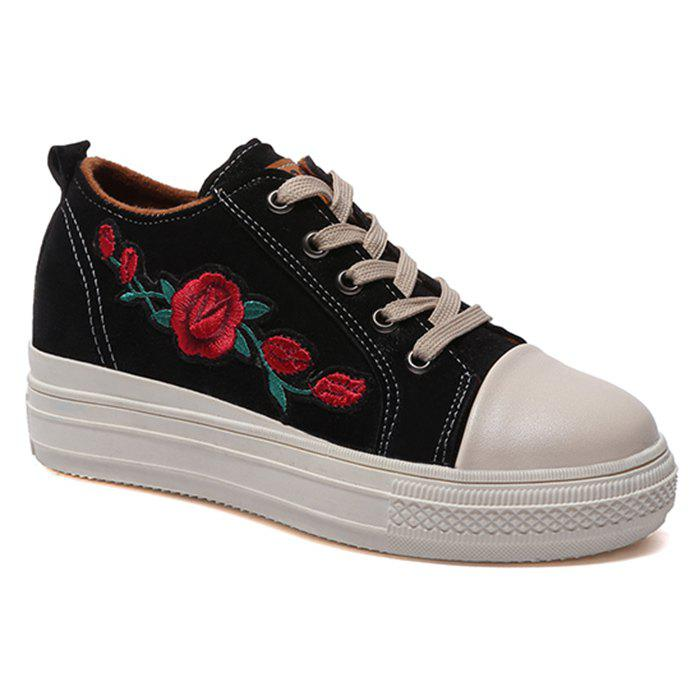 Online Flower Embroidery Stitching Casual Shoes