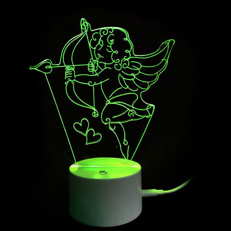 Outfits Valentine's Day 3D Cupid's Bow Decor USB Charging LED Touch Night Light