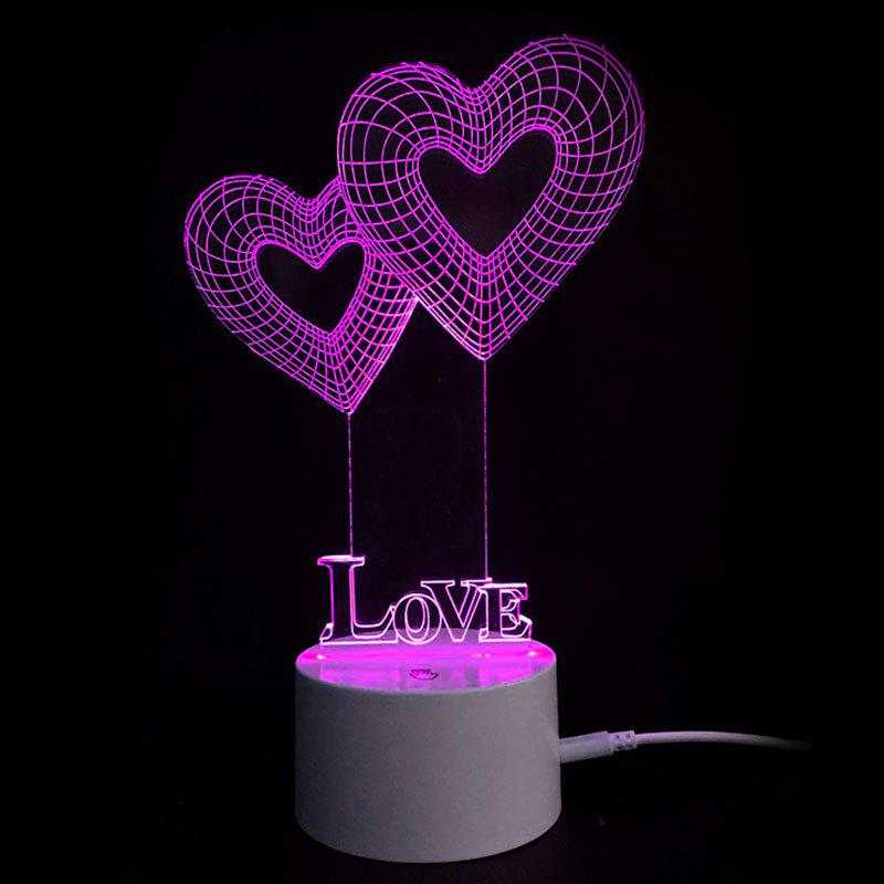 День Святого Валентина Love Heart Touch Colors Change LED Night Light