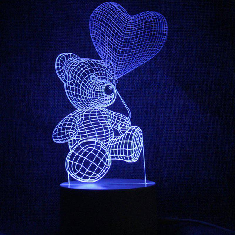 Store Love Heart Bear Touch Colors Change LED Night Light