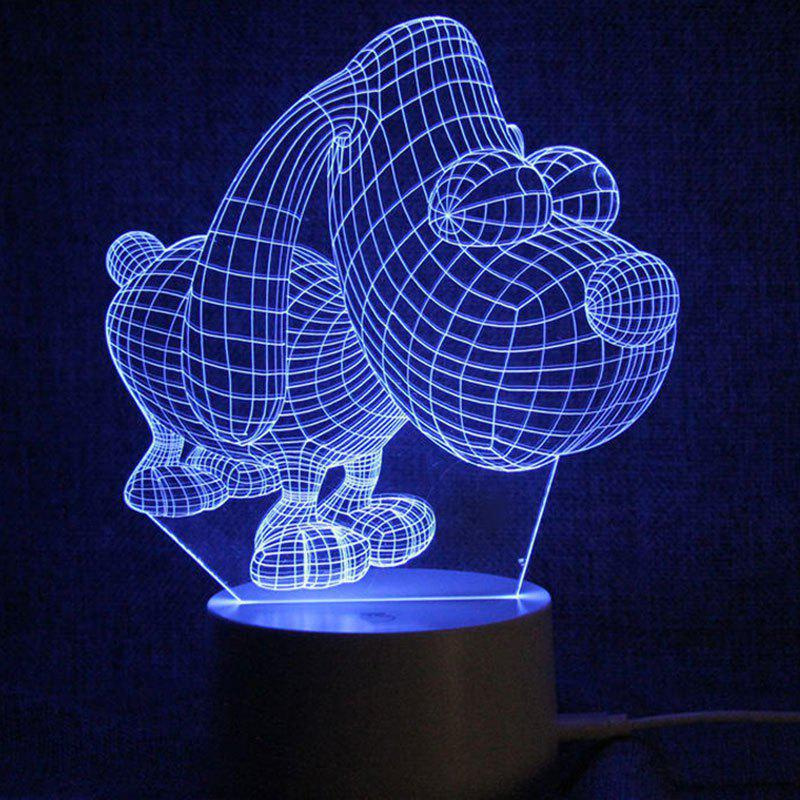 Outfit Puppy Shape Touch Color Changing LED Night Light