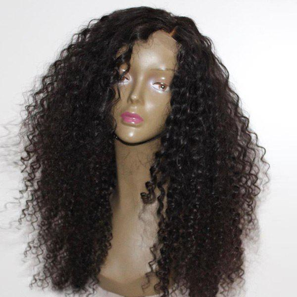 Unique Long Side Parting Fluffy Afro Curly Synthetic Wig