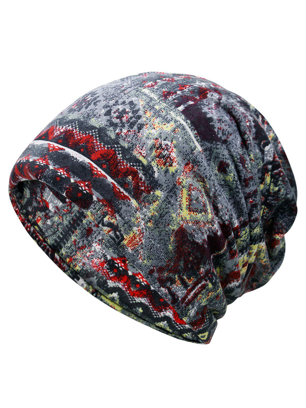 Outfits Unique Digital Pattern Printed Slouchy Beanie