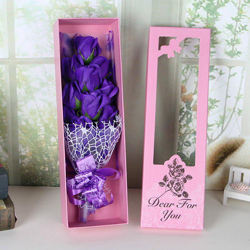 Discount Valentine's Day Gift Artificial Soap Rose Flowers In A Box