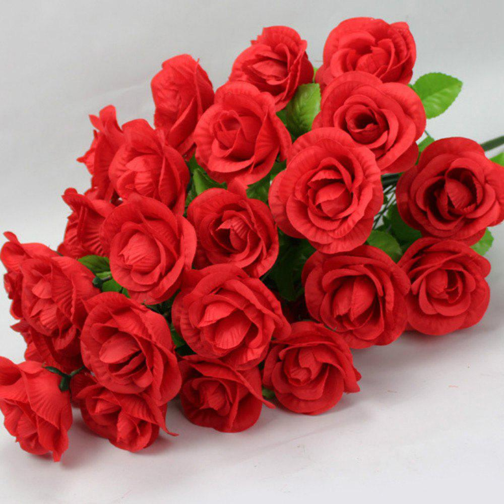 2018 valentines day gift artificial silk flowers in red rosegal shop valentines day gift artificial silk flowers mightylinksfo