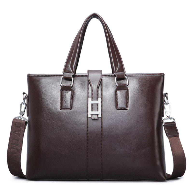 Trendy Multi Function Faux Leather Briefcase