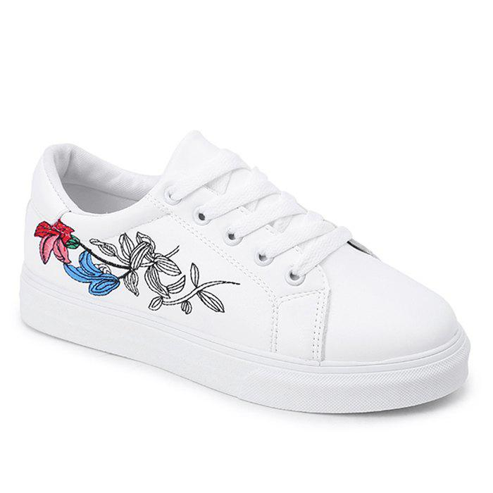 Outfits Faux Leather Flowers Skate Shoes