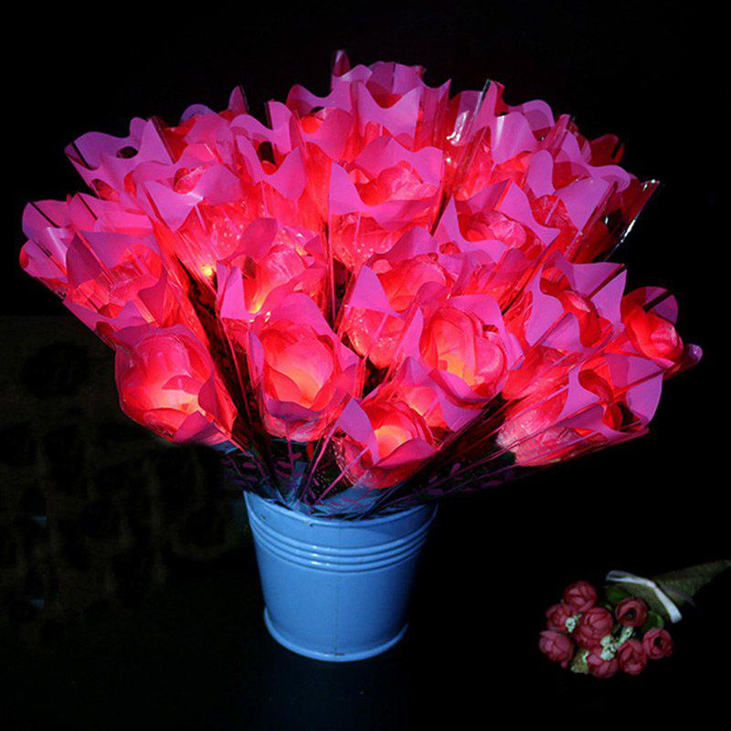 Shop 1 Piece LED Light Artificial Silk Flower Valentine's Day Gift