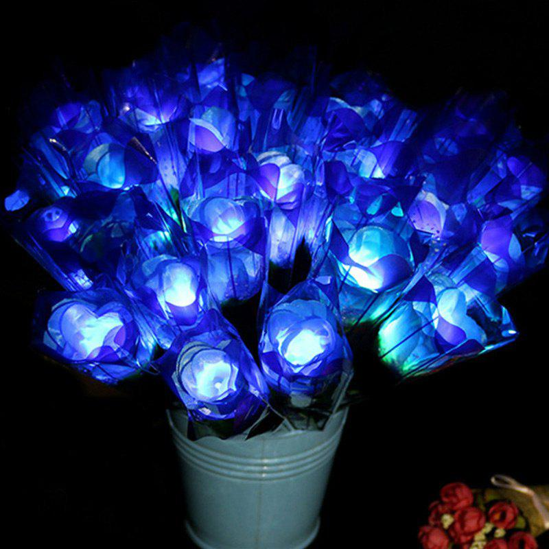 Store 1 Piece LED Light Artificial Silk Flower Valentine's Day Gift